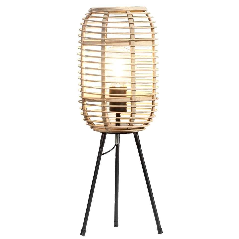 Tafellamp Vince - naturel - Ø20x54,5 cm | Leen Bakker | Hal ...