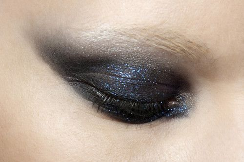 glittery black.