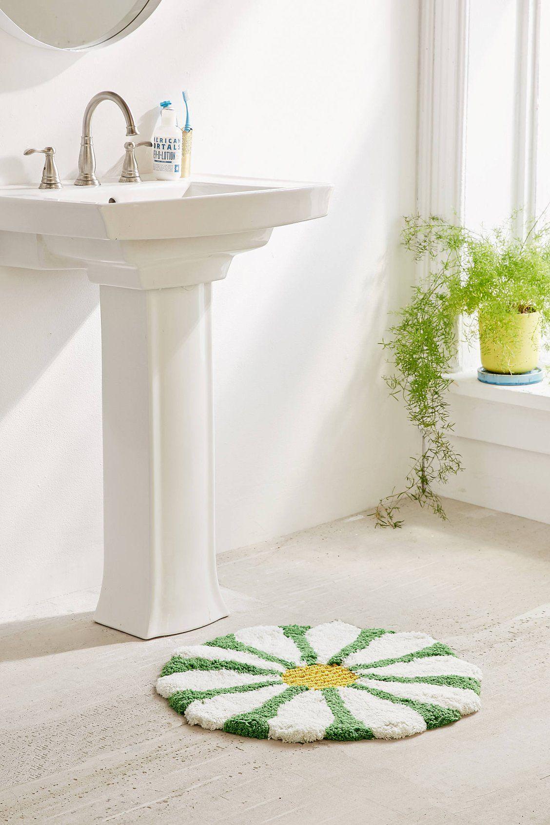 Daisy Bath Mat Rugs Bathroom