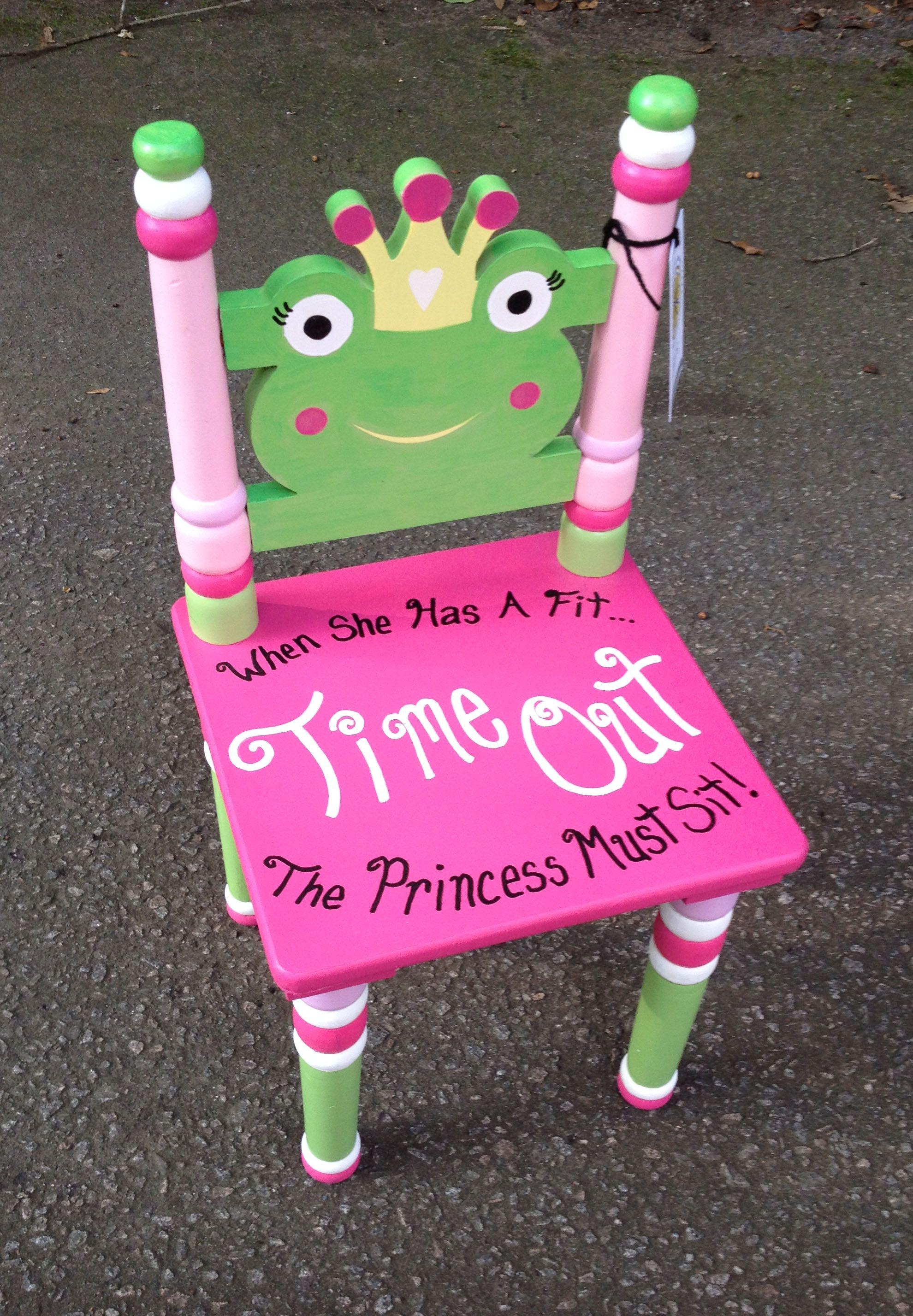 Time out chair for the princess basteln pinterest - Ausgefallene kindermobel ...