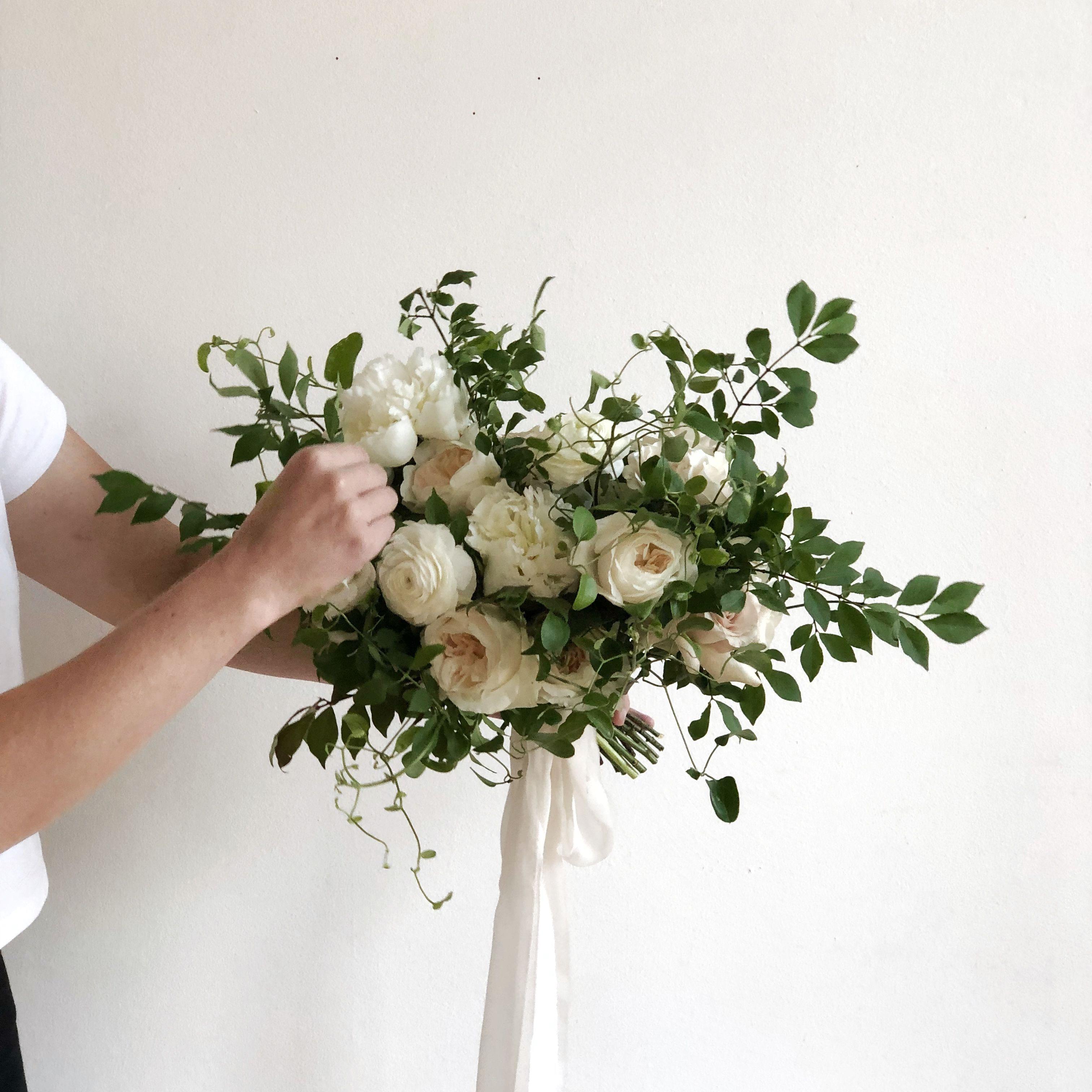 bridal bouquet - evergreen flower co. - frou frou chic