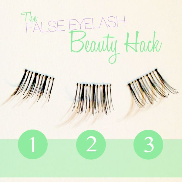 Cut False Eyelashes Into 3 Pieces To Make It Easier To Apply I