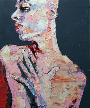 "Saatchi Art Artist thomas donaldson; Painting, ""5-18-14 figure with hand,"" #art"