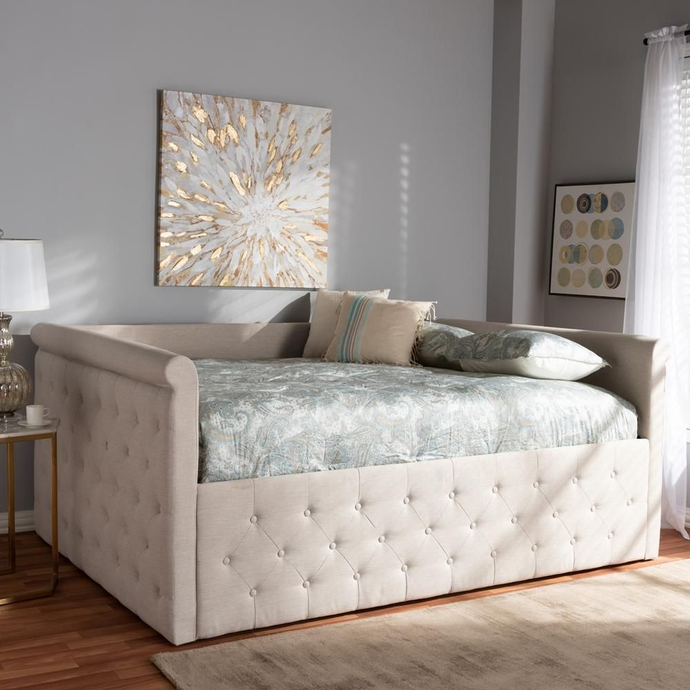 Photo of Amaya Contemporary Daybed – Beige / Queen / Without Trundle