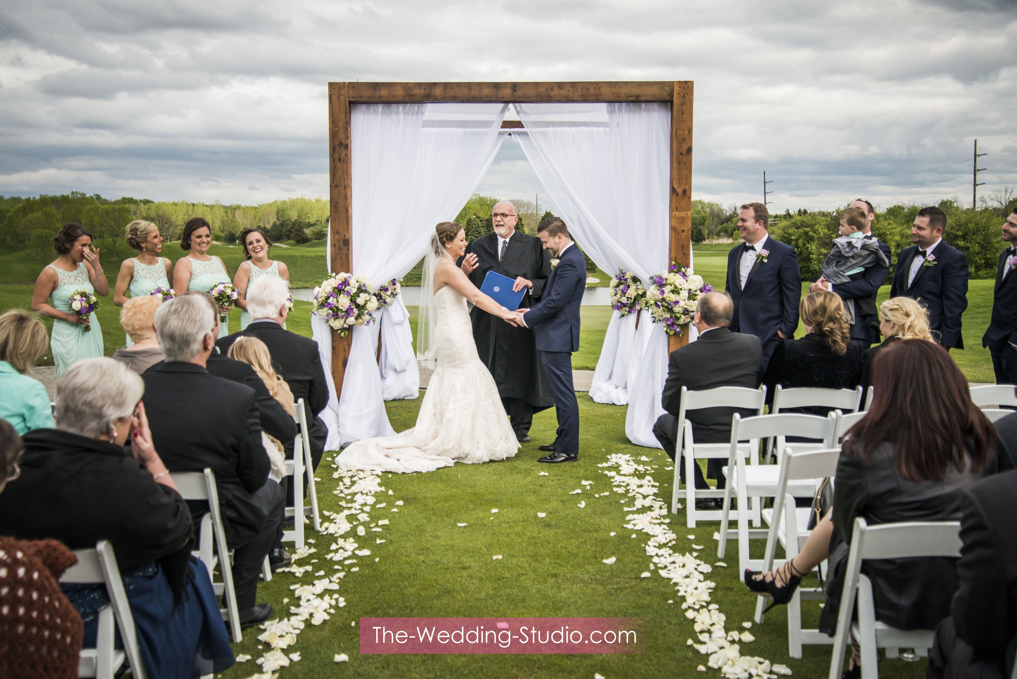 Wedding Ceremony At Makray Memorial Golf Club Photographed By The Studio Schaumburg Il