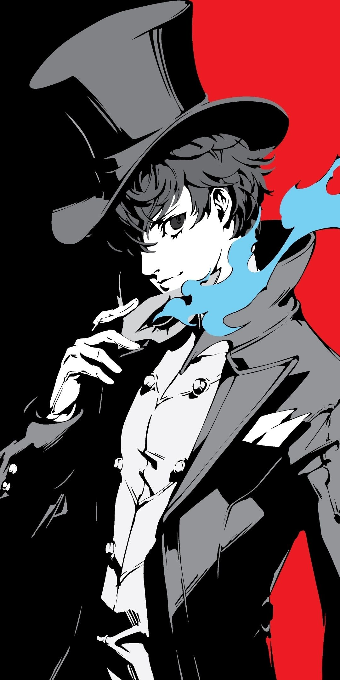 Joker, Persona 5, video game, 1080x2160 wallpaper (With