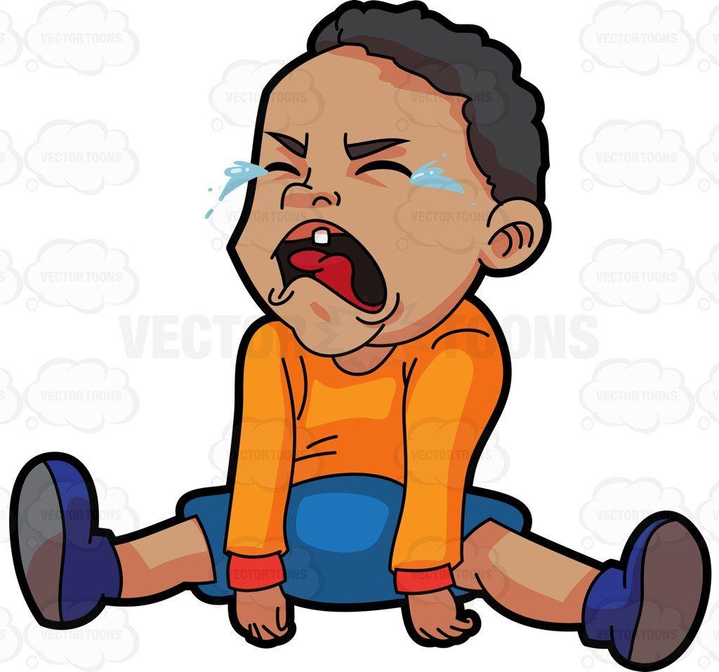 A Crying Baby Boy Baby Cartoon Drawing Baby Crying Baby Cartoon