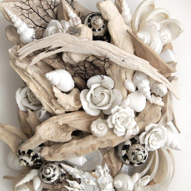 Shell & Bleached Driftwood Wall Panel | Doris in Brixham