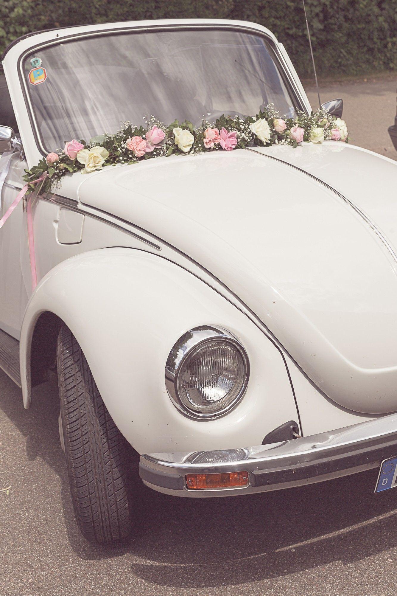 Wedding Vw Kafer Flowers Hochzeitsauto Withe Car Oldtimer Hochzeit Auto Hochzeitsauto Autoschmuck Hochzeit