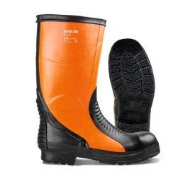 Turvasaapas maanrakennus- ja kaivosteollisuuteen. Turvarakenteet suojaavat jalkaa tehokkaasti iskuilta ja nauloilta.
