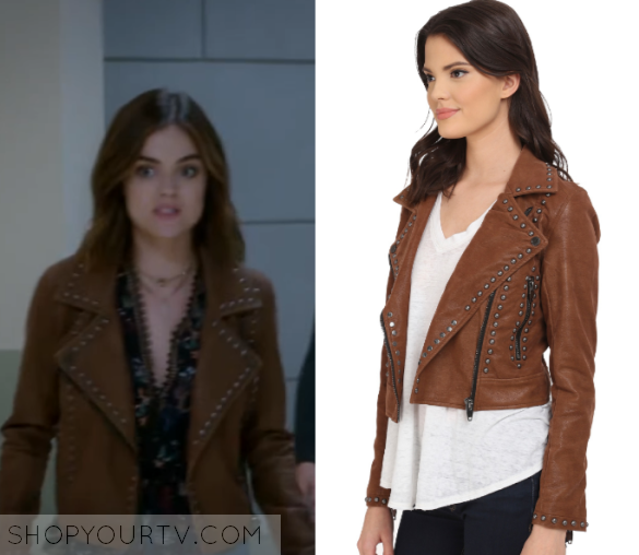 3438886e1 Pretty Little Liars: Season 7 Episode 11 Aria's Studded Jacket ...
