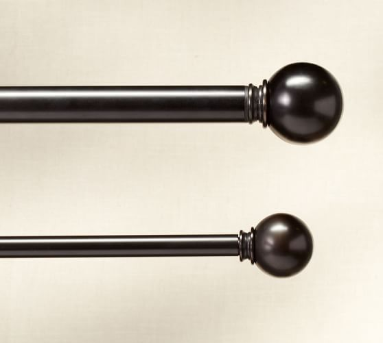 @andrealyn97 this is what I mean by a different finial! PB Standard Ball Finial & Drape Rod - Antique Bronze finish
