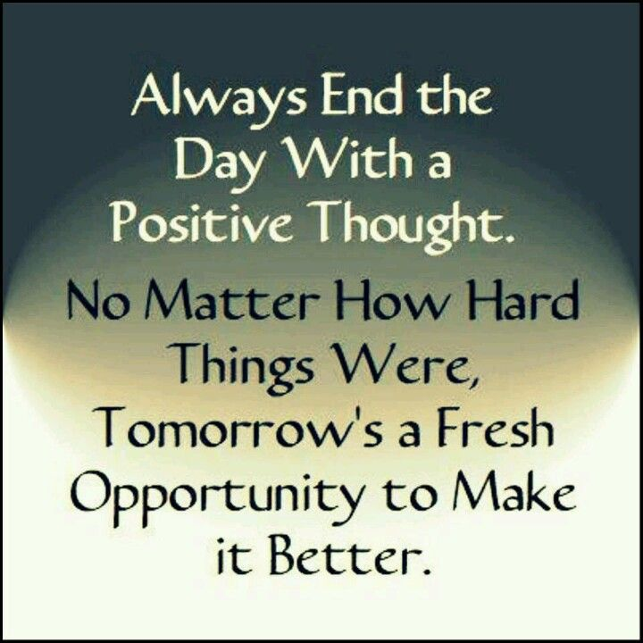 Positive thoughts :)