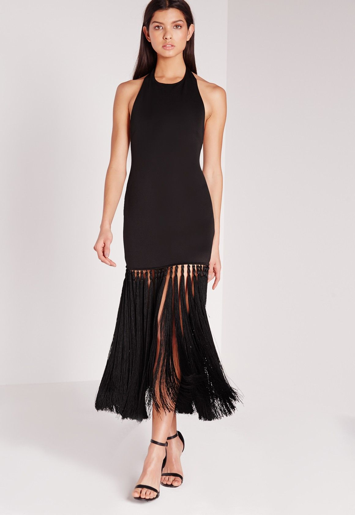 https://www.missguidedus.com/dresses/party-dresses/tassel-hem-midi-dress-black