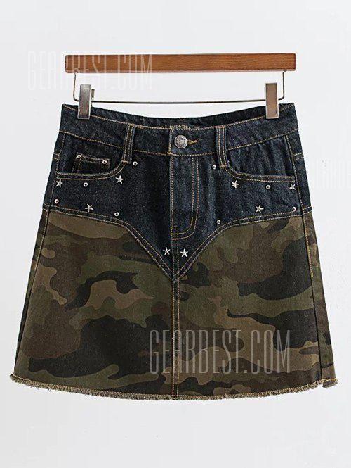 Rivet Design Spliced Camo Print Skirt  Rivet Design Spliced Camo Print Skirt  EUR 16.10  Meer informatie  http://bit.ly/2fYfW6A