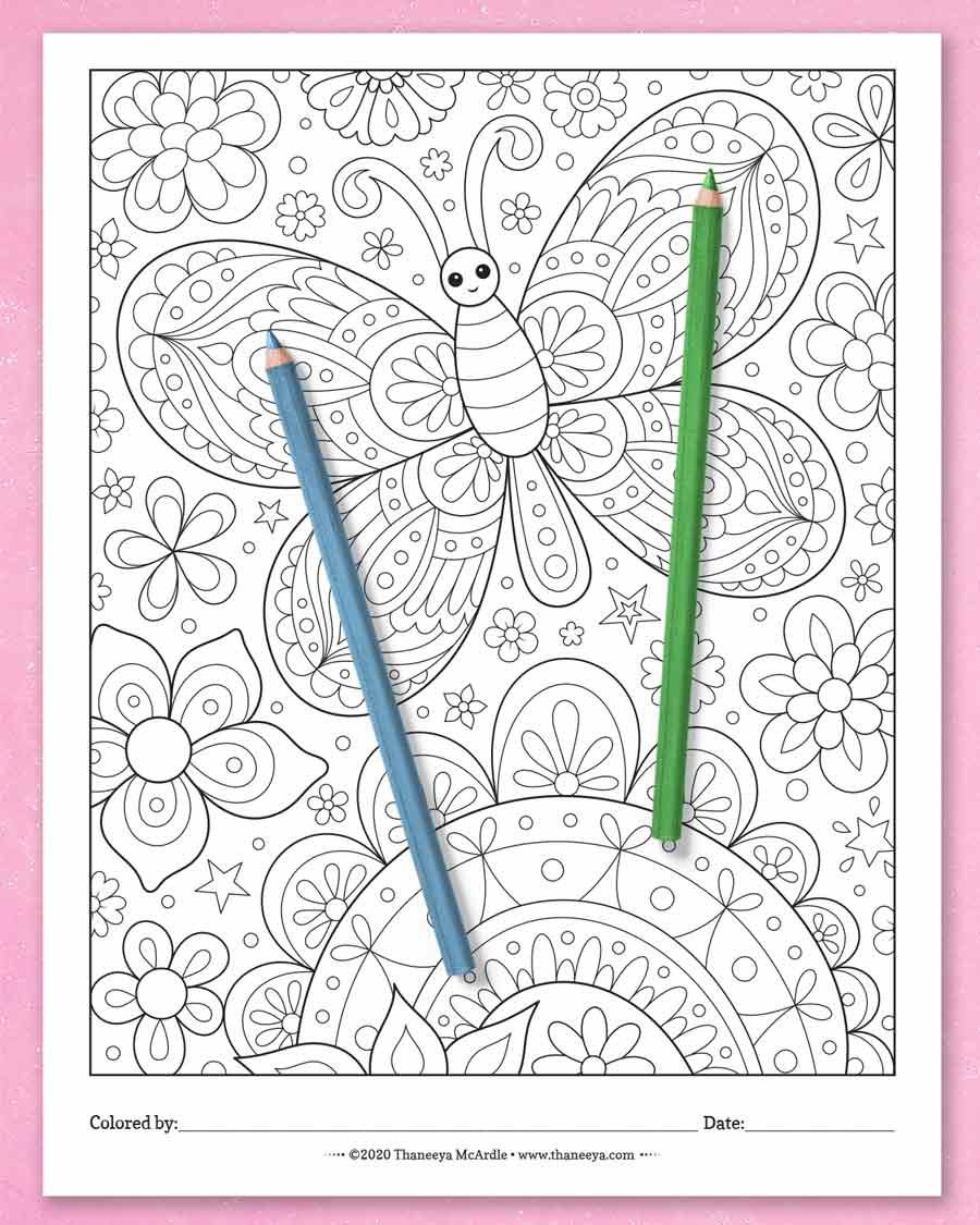 Happy Hodgepodge Coloring Pages Set Of 27 Printable Coloring Pages By Thaneeya Mcardle Art Is Fun Butterfly Coloring Page Coloring Pages Coloring Book Download [ 1125 x 900 Pixel ]