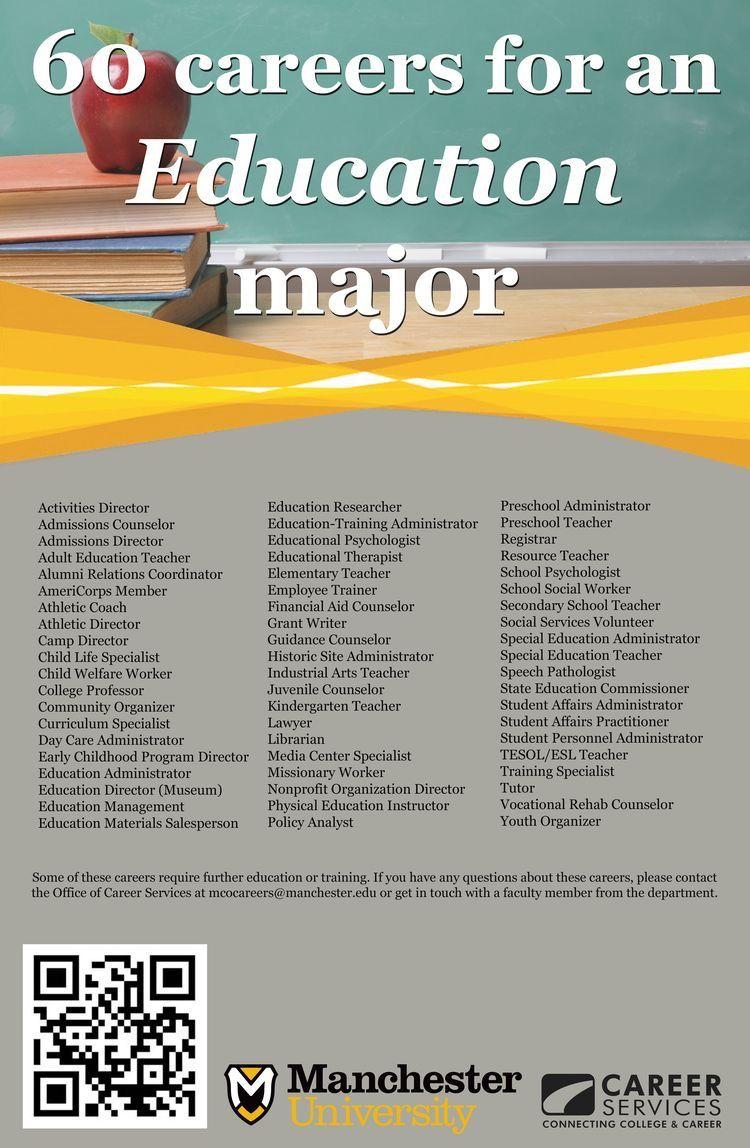 Pin by laina lorell on education education major jobs