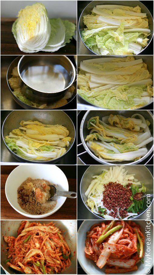 Fresh Napa Cabbage Kimchi Salad Baechu Geotjeori