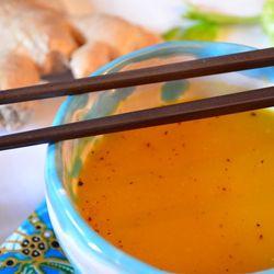 Zuppa di zucca con platessa