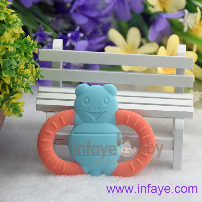 Best Baby Toddler Teether Chew Toy Molar Rod Silicone Handbell Fine Design