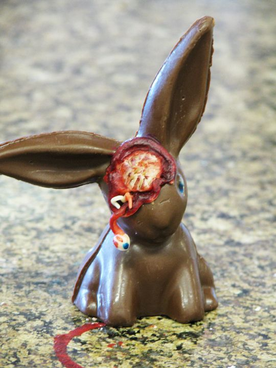 zombie bunny   Chocolate bunny, Zombie bunny, Chocolate easter bunny