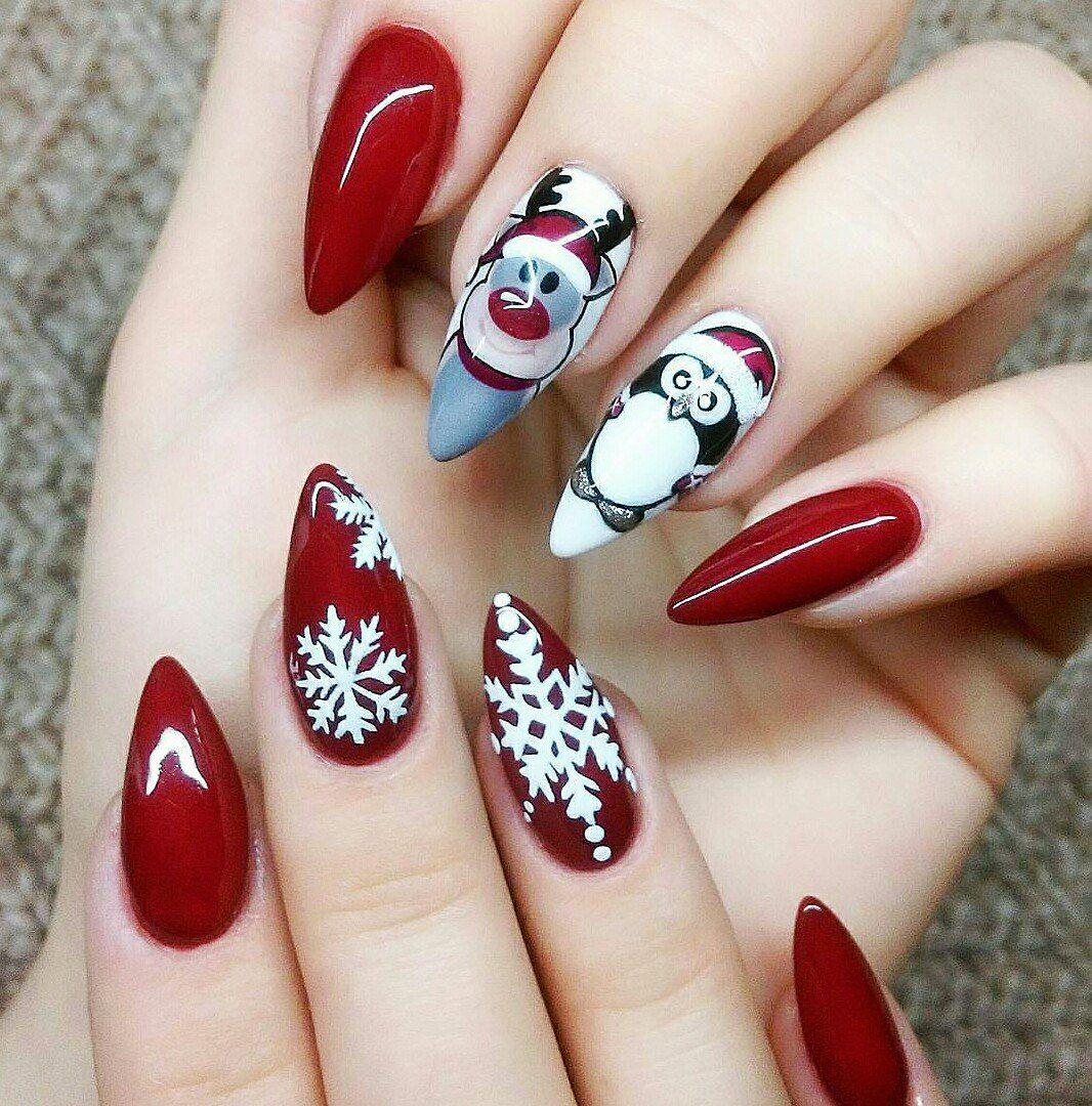 Brilliant Weihnachts Nägel Rot Beste Wahl Besuchen