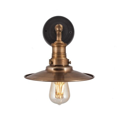 Brooklyn Flat Wall Light 8 Inch Copper Wall Lights Antique Wall Lights Vintage Industrial Lighting