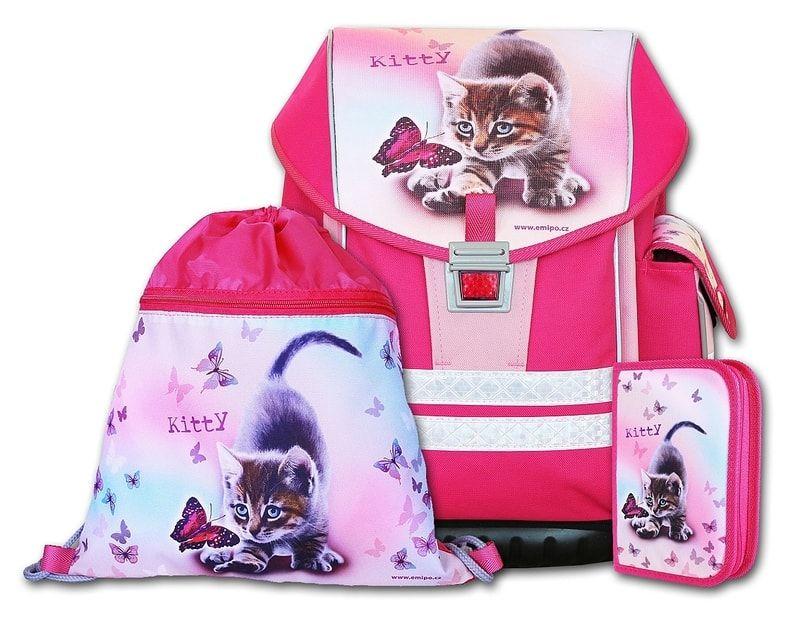 55789c4c7d EMIPO Školský aktovkový SET ERGO ONE Kitty 3-dielny