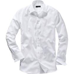 Mey & Edlich Herren Businesshemd French Cuff Hemd Slim Fit bügelfrei weiß 38, 40, 42, 44, 39, 41, 43