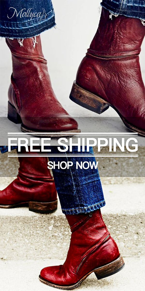 ba4b66ade477 Women Distressed Ankle Boots Pointed Western Style Leather Boots ...