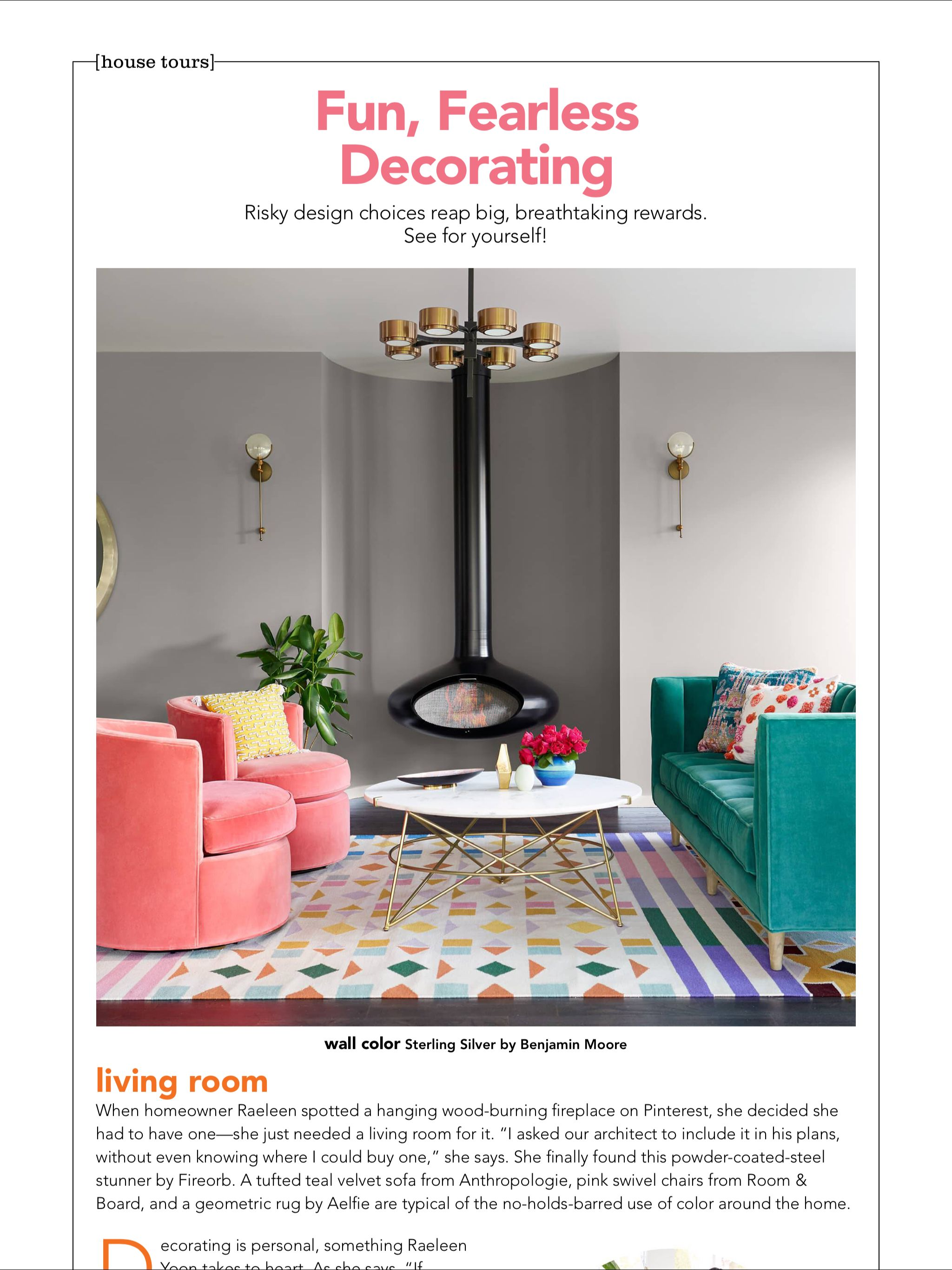 fun fearless decorating from hgtv magazine october 2018 read it rh pinterest com