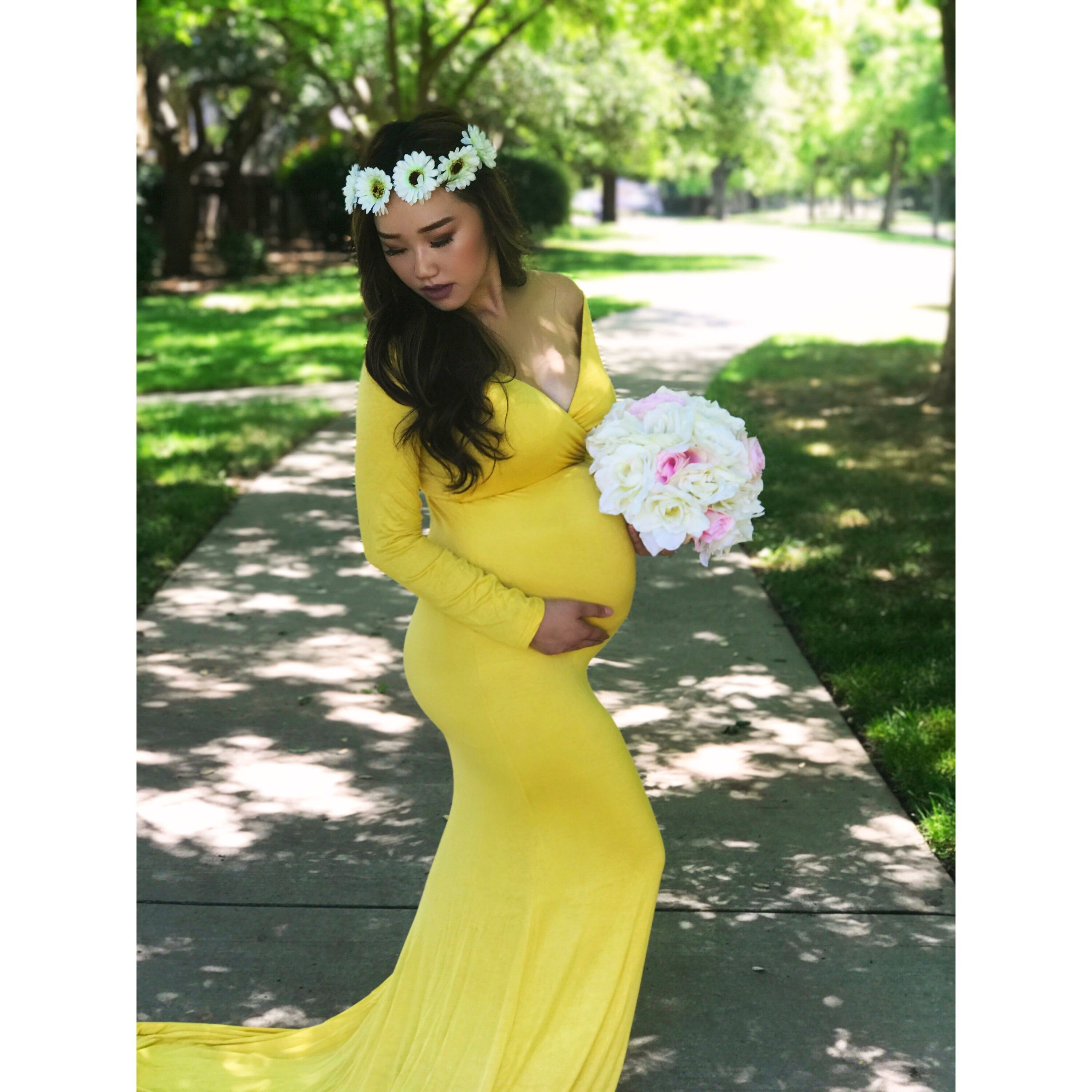 """Jasmine"" - Maternity Body Shaping Gown"
