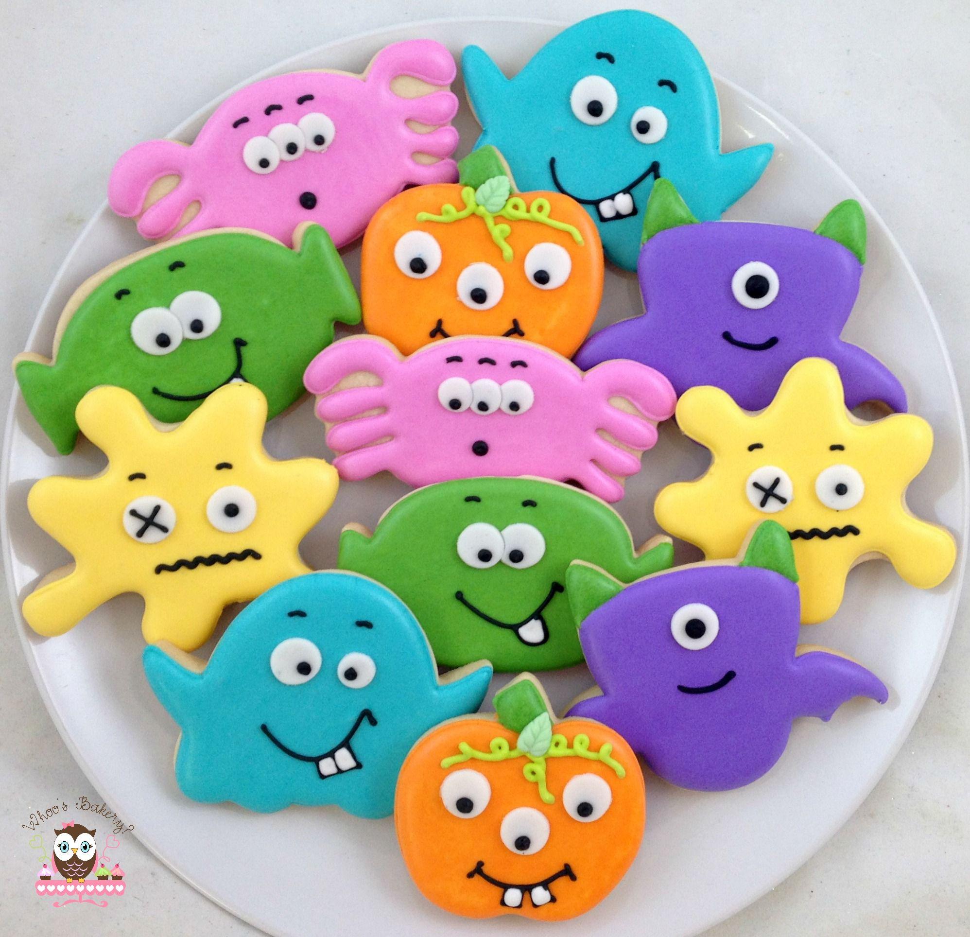 Monster Halloween Cookies: Halloween Monsters, Monster Cookies