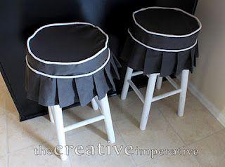 Slip covered bar stools  -  an option