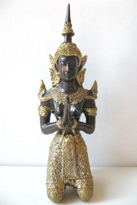 Bronze Thepenom Teppanom Thai Angel Guardian Praying