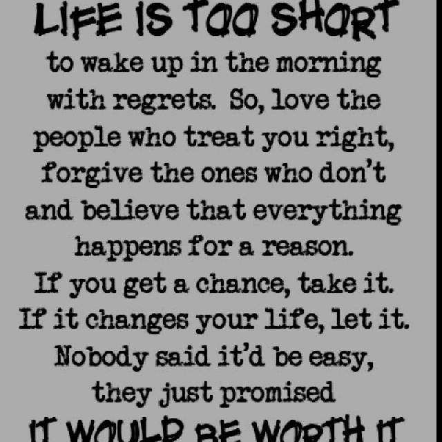 Take chances.