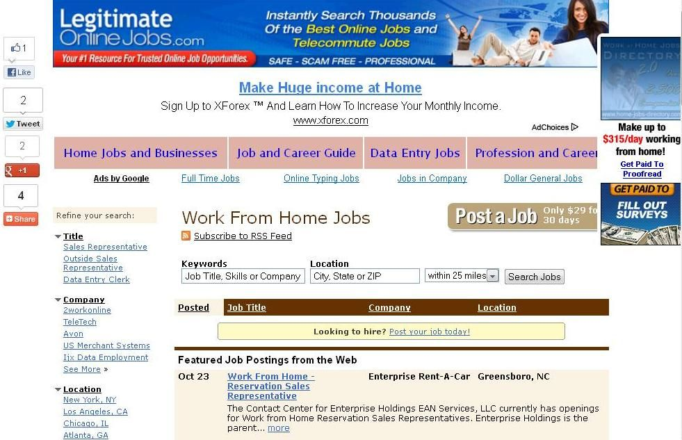 Every thousands of jobs and business opportunities are