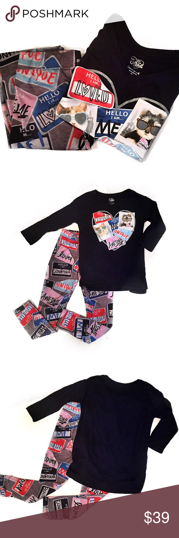 "Justice ""Hello I Am..."" Leggings/Shirt Set Sz 10 Justice ""Hello I Am..."" Leggings/Shirt Set Sz 10 - *Excellent Condition* Justice Matching Sets"