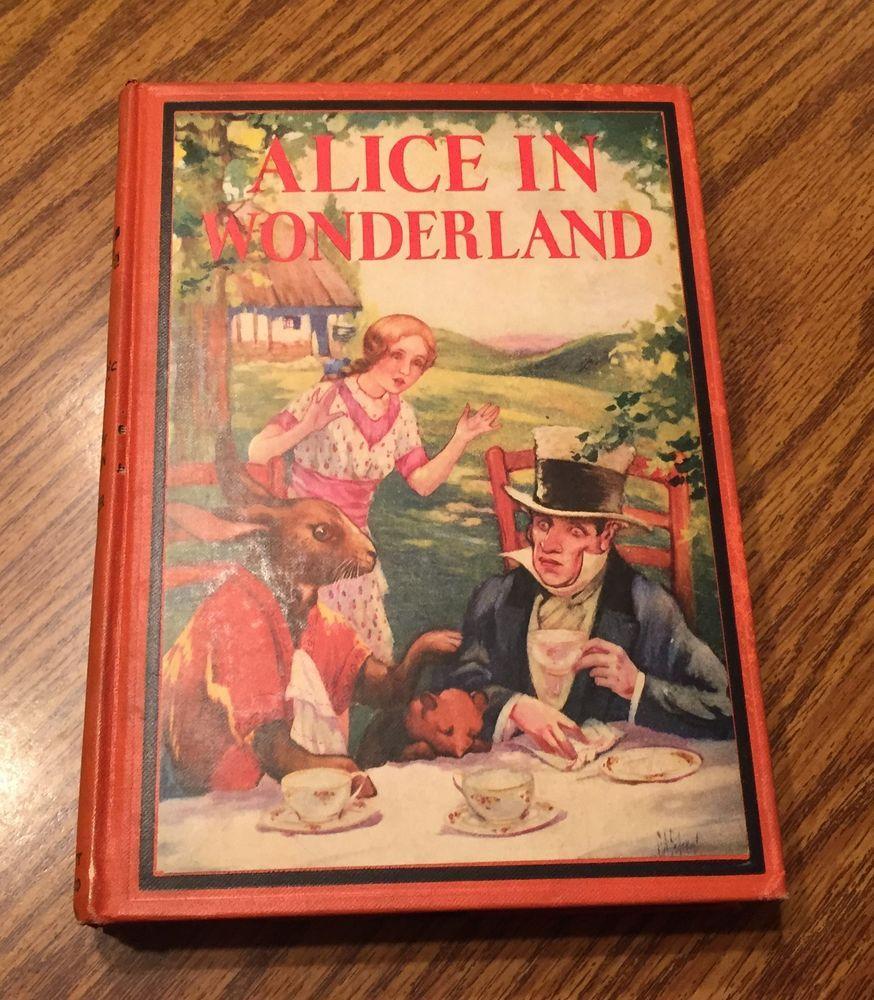 Vintage Alice in Wonderland Lewis Carroll Illustrated by Jackson & Federer Color