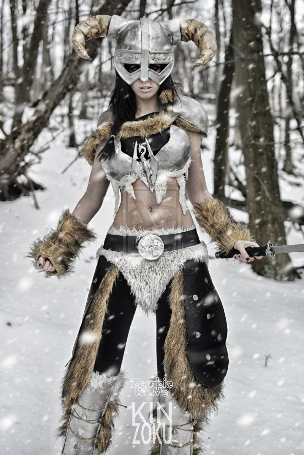 skyrim cosplay | iron helmet and leather armor inspired | the rustle