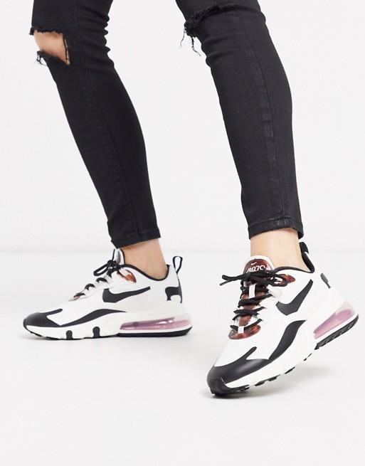Nike Air Max 270 React cream and