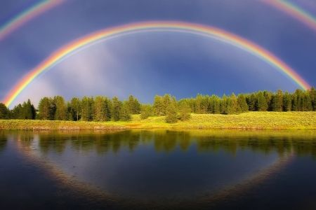 Rainbow Sky Desktop Background Rainbow Rainbows Nature