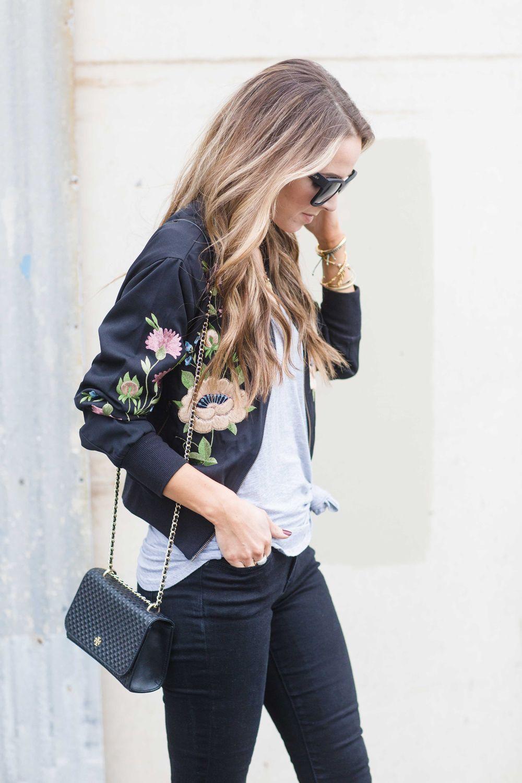 Más de 25 ideas increíbles sobre Bomber jacket embroidery ...