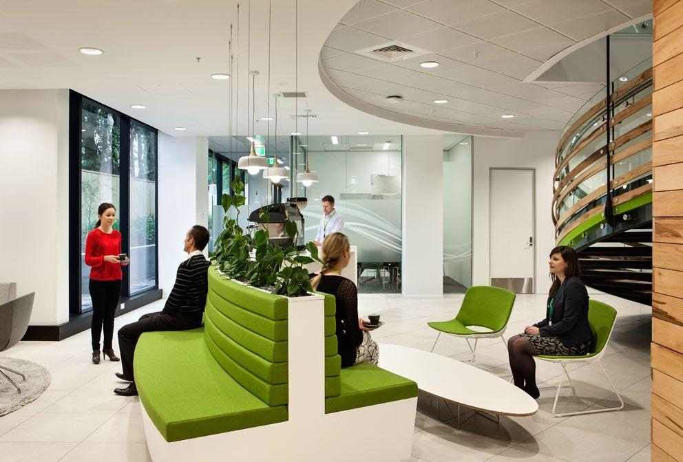 Office tour bp oil new zealand auckland head office for Office design auckland