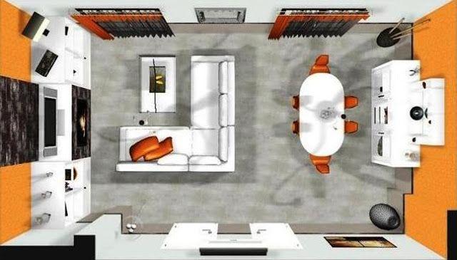 Resultado de imagen de amueblar salon comedor 40 m2 | salon comedor ...