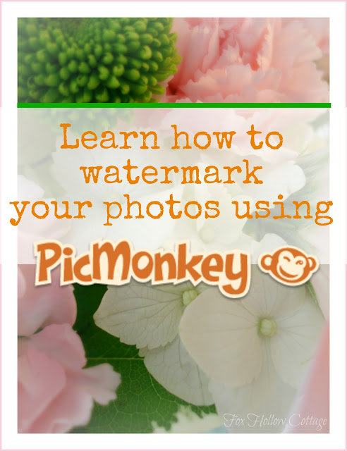 Learn how to watermark your photos using PickMonkey #blogging