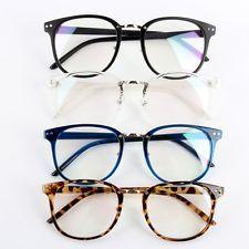 ec0841cfe2cd Unisex Women Men Optical Clear Lens Glasses Round Frame Eyewear Eyeglasses