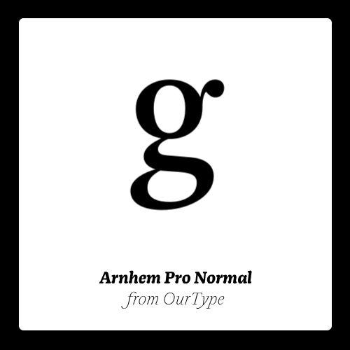 Download Arnhem Pro Normal Pack. #fonts #typography | Font shop ...