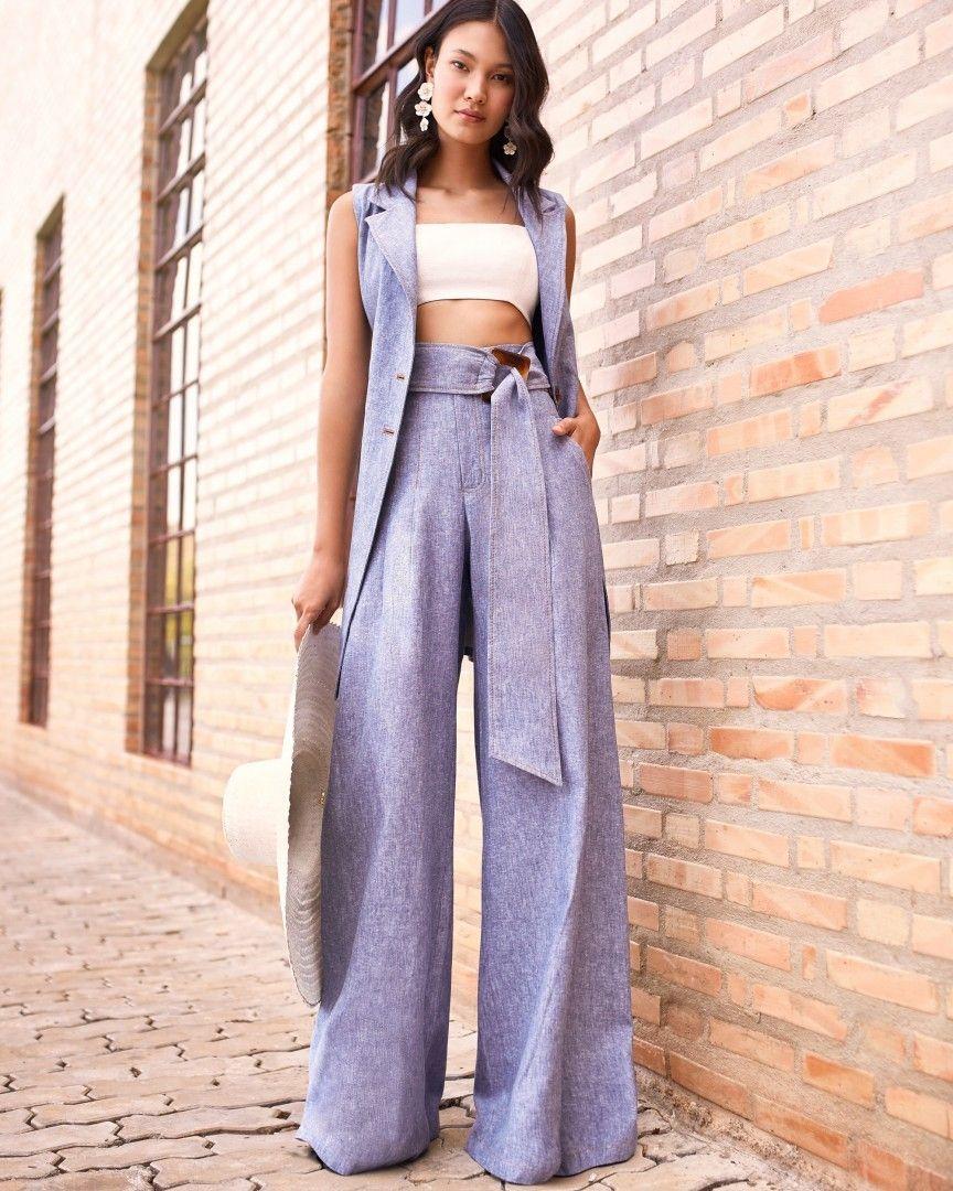 Calças pantalonas são ideais para mulheres altas [4]