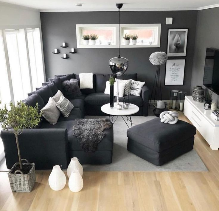 "Living Room Decor on Instagram: ""Dark colors on point @susshf_myhome � #livingroomdecor #interiordesign #livingroom #homedecor #decoration #interior #interior123…"""